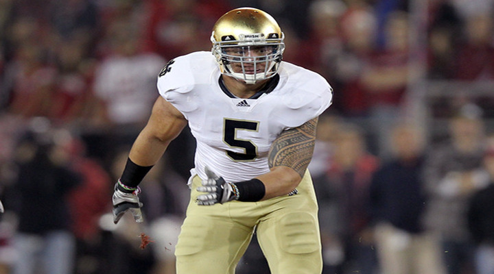 Notre Dame LB Manti Te'o's Diving Interception Sealed the 30-13 Victory Over Oklahoma [Video]