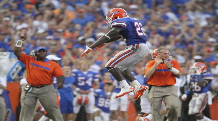 Florida's Louchiez Purifoy Got Taken Out By His Own Teammate While Celebrating [Video]