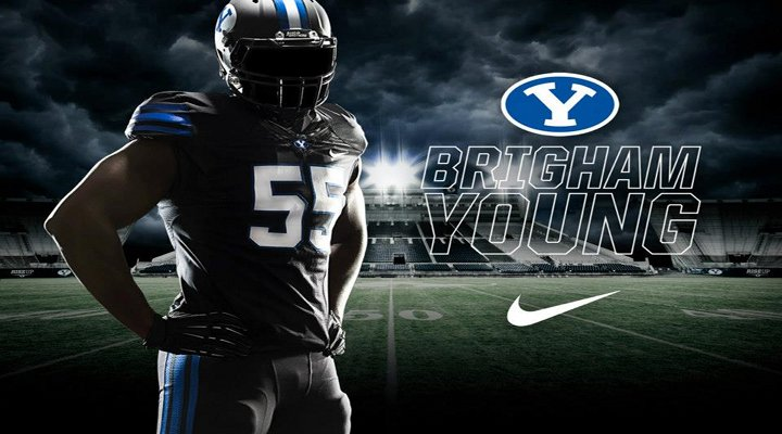 BYU Showcases Its Dark Side With All-Black Uniforms