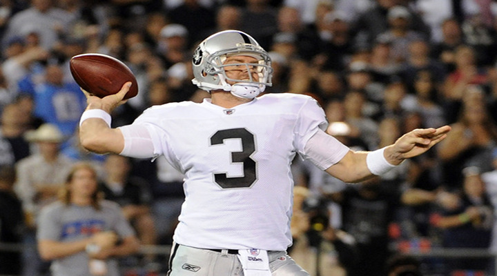 Carson Palmer Throws Late Pick Six; Falcons Edge the Raiders 23-20 On Last Second Field Goal