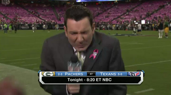 NFL Network Sideline Reporter Ian Rapoport Got Hit with a Football on Live TV [Video]