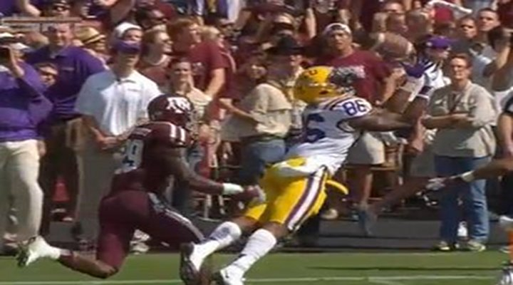 LSU WR Kadron Boone Made an Amazing, Over-the-Shoulder, Diving Touchdown Catch [Video]