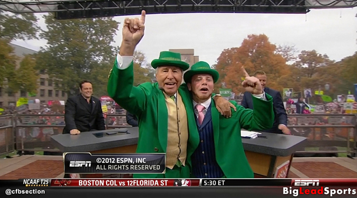 Lee Corso Dressed as Leprechaun and Did an Irish Jig on College GameDay [Video]