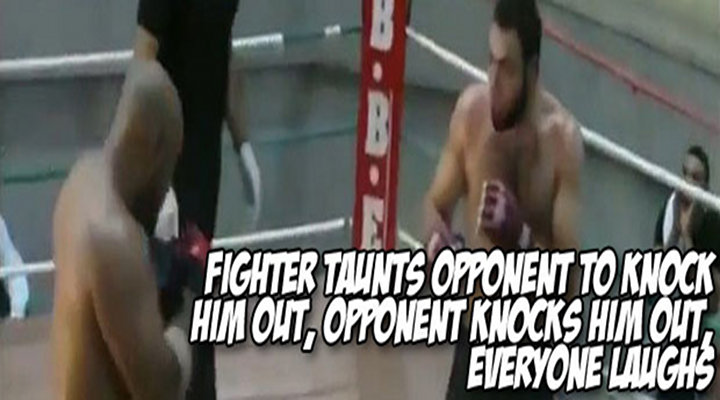 BoneHead: Fighter Taunts Opponent Like a Gorilla Then Immediately Gets Knocked Out [Video]