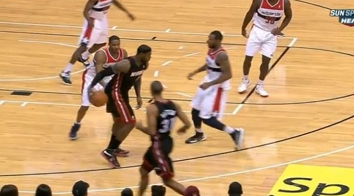 LeBron James: Sick Between-the-Legs Ball-Fake Totally Fooled Two Washington Wizards