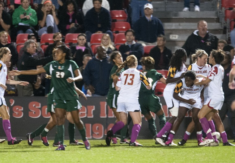 BoneHead: Maryland vs Miami Women's Soccer Fight Leads to 3 Ejections & 29 Fouls