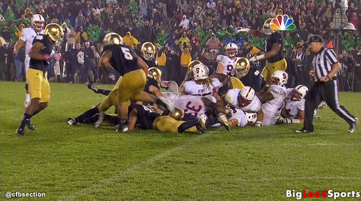 Notre Dame Beat Stanford 20-13 on Controversial No Touchdown Call at the Goal Line [Video]