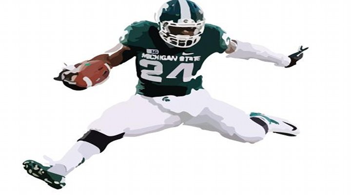 Michigan State RB Le'Veon Bell Hurdled Indiana Defender in Spartans 31-27 Victory Over Indiana...