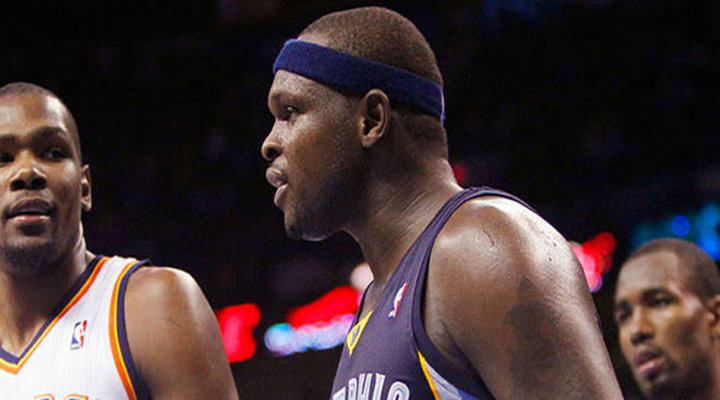 "Grizzlies Zach Randolph Ejected After Telling Kendrick Perkins: ""I'll Beat Your Ass"" [Video]"