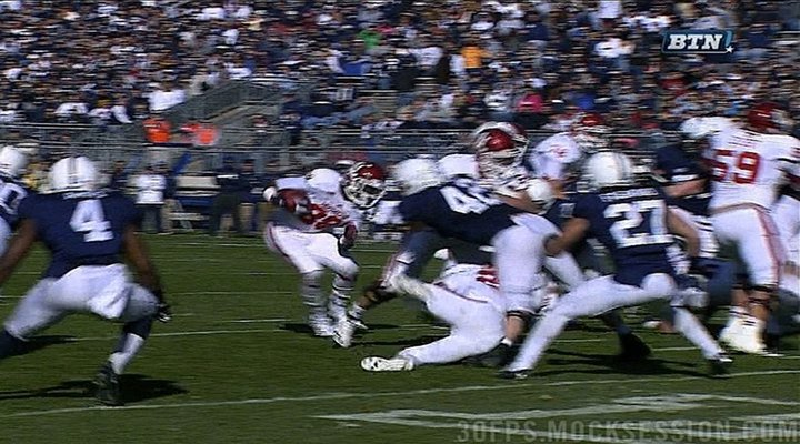 Penn State LB Mike Mauti Carted Off Field After Questionable Chop Block
