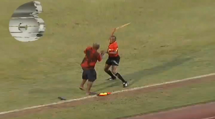 Soccer Fan Attacks Referee During College Game in Trinidad and Tobago [Video]