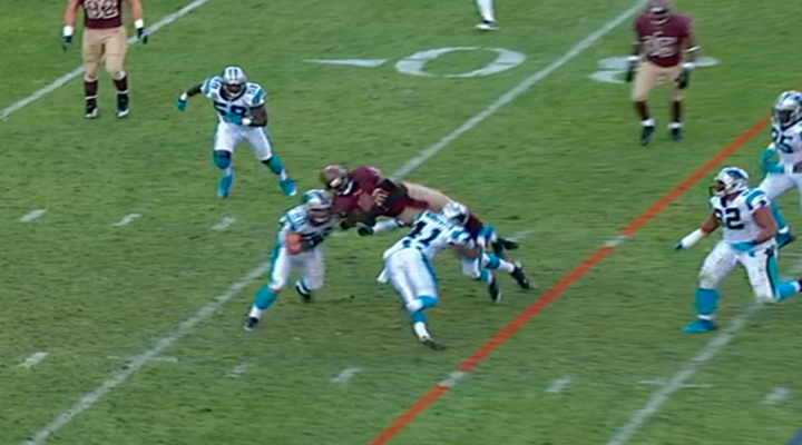 Robert Griffin III Goes Helicopter in Redskins 21-13 Loss to Cam Newton's Panthers [Video]