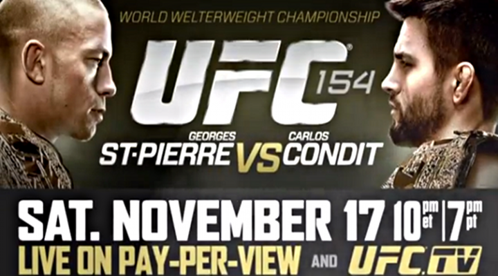 UFC 154 - GSP VS CONDIT Preview