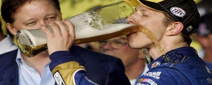 Brad Keselowski Wins First Sprint Cup Championship; Celebrates with Miller Light Beer Stein & a Buzz [Video]
