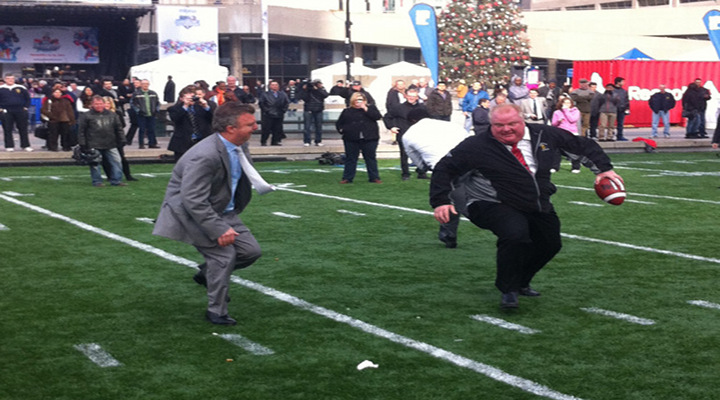 Mayor of Toronto Shows Off Football Skills, Immediately Falls Down [Video of the Year Edition]