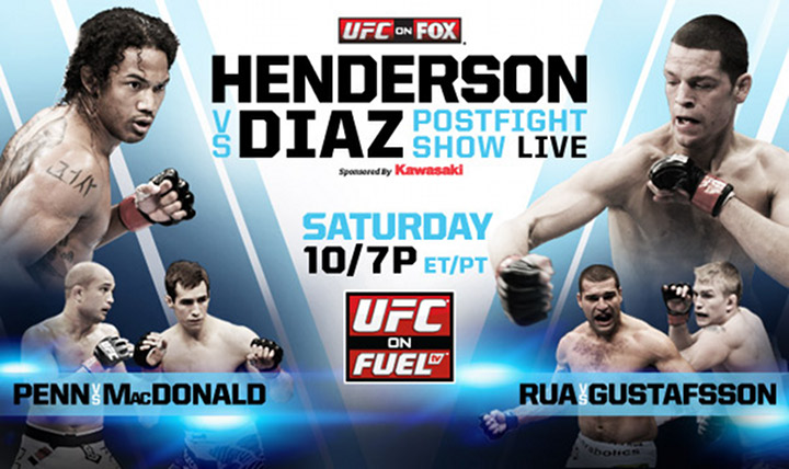 UFC on FOX Henderson Vs. Diaz! Saturday 8th 5PM-PT/8PM-EST!