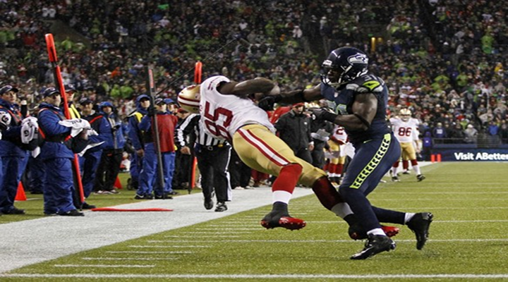 """""""You Got Knocked the F*ck Out!"""": 49ers TE Vernon Davis Destroyed by Seahawks Kam Chancellor [Video]"""