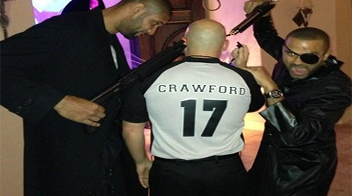 """Spurs Tim Duncan and Tony Parker Held Guns to """"Joey Crawford's"""" Head on Halloween"""