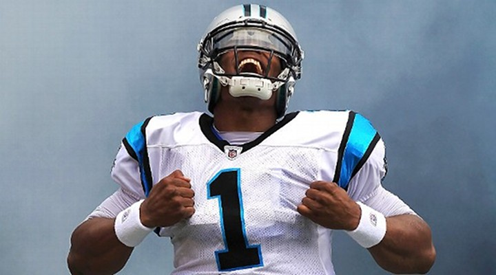 Panther QB Cam Newton 72-Yard TD Run Was Amazing; Capped Off by a Flip in the End Zone [Video]