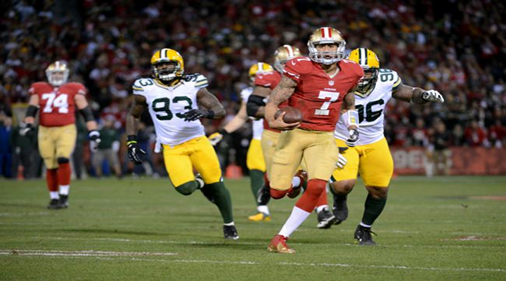 San Francisco QB Colin Kaepernick's Record Setting Night Gives Niners 45-31 Win Over Packers [Video Highlights]