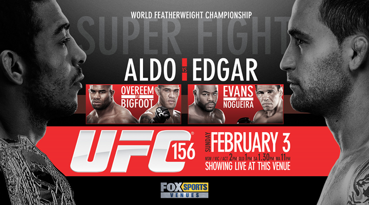 UFC 156 Live on Pay-Per-View: Aldo vs Edgar Predictions & Preview