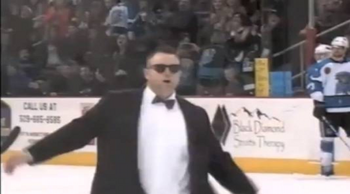 Hockey Coach Walks onto Ice & Pretends to be Blind to Taunt Referees, Gets Tossed [Video]