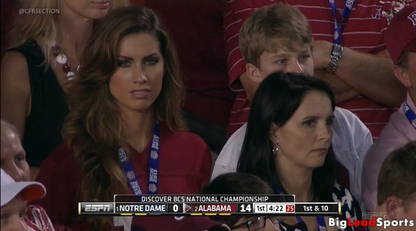 A.J. McCarron: Mom and Girlfriend are Making Headlines at BCS Title Game [Video]
