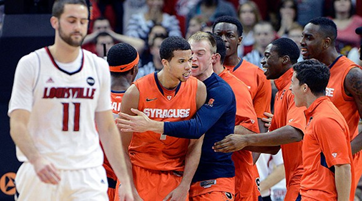 Syracuse Beats #1 Louisville: Michael Carter-Williams With the Steal and Dunk Late (Video)