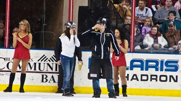 Minor League Hockey Team's Beer-Chugging Intermission Show Results In Fans Puking On The Ice