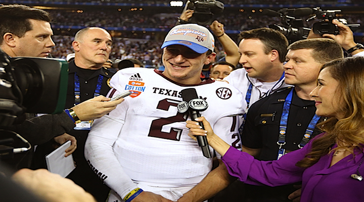 Johnny Manziel is Taking All Online Classes at Texas A&M Because People Mob Him in Class