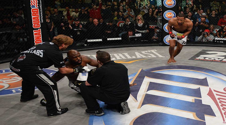 """You Got Knocked the Fuck Out!"": Emanuel Newton Knocked Out King Mo With Spinning Back Fist at Bellator 90"