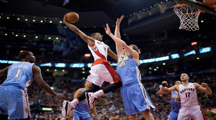 "Dunk of the Day: Raptors DeMar DeRozan Gives Timofey Mozgov a ""Griffin-Style"" Facial [Video]"