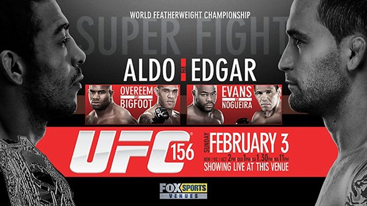 UFC 156 - Aldo Vs. Edgar Live Tonight & ONLY on Paper-View!