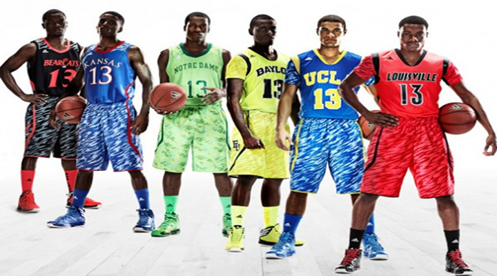 Adidas Sleeve Zubaz College Basketball Uniforms Are Clownish & Hideous