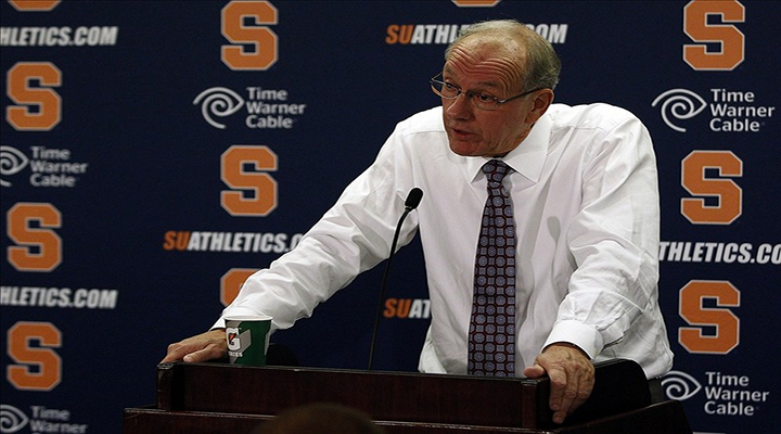"Jim Boeheim Wouldn't Answer a Question From ESPN's Andy Katz, Calls Him an ""Idiot"" & ""Disloyal Person"" [Video]"