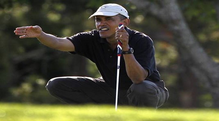 Obama and Tiger Woods Are Playing Golf Together Today