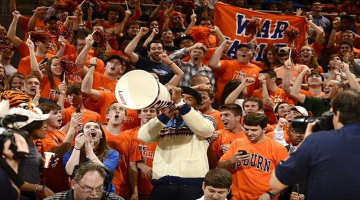 Cam Newton Went to the Auburn Basketball Game and Had Fun in the Student Section [Video]