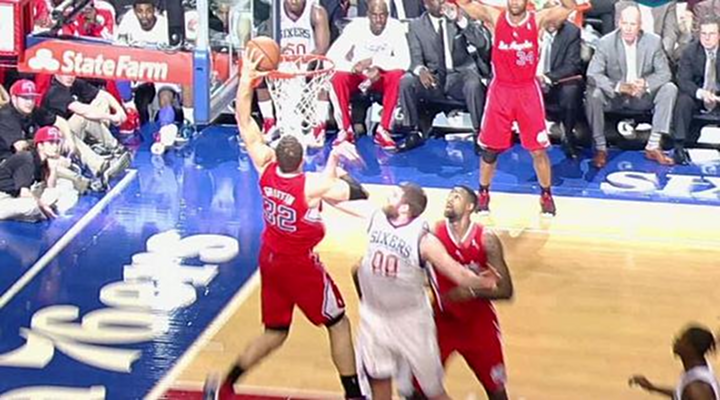 Dunk of the Day: Clippers Blake Griffin Goes Over 7-Footer Spencer Hawes For Left Handed Slam [Video]