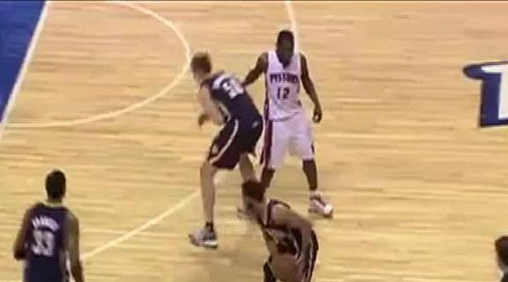 Pistons Will Bynum Punched Tyler Hansbrough in the Stomach & Got Him Suspended for a Game [Video]