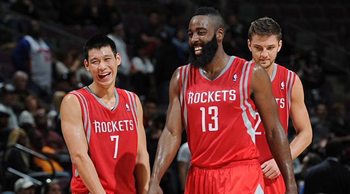 Jeremy Lin, James Harden & Chandler Parsons Have a Great Kung Fu Handshake Ritual [Video]
