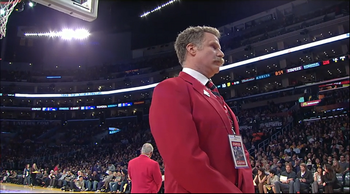Will Ferrell Dressed Like a Staples Center Security Guard, Kicked Shaq Out of Lakers – Suns Game [Video]
