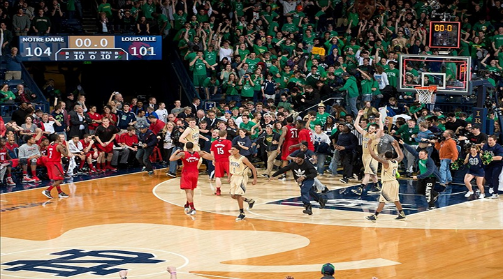 Notre Dame Beat Louisville 104-101 in Five Overtimes [Video]