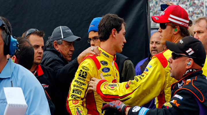 Tony Stewart Punched Joey Logano After the Sprint Cup Auto Club 400 [Video]