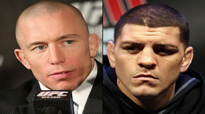 Check Out The UFC Media Call Between Nick Diaz & GSP; Trash Talking at Its Best!
