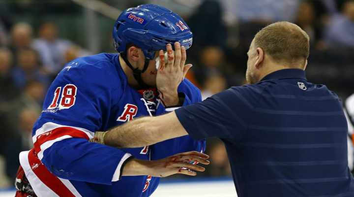New York Rangers Marc Staal Was Hit in the Eye With a Slap Shot [Video]