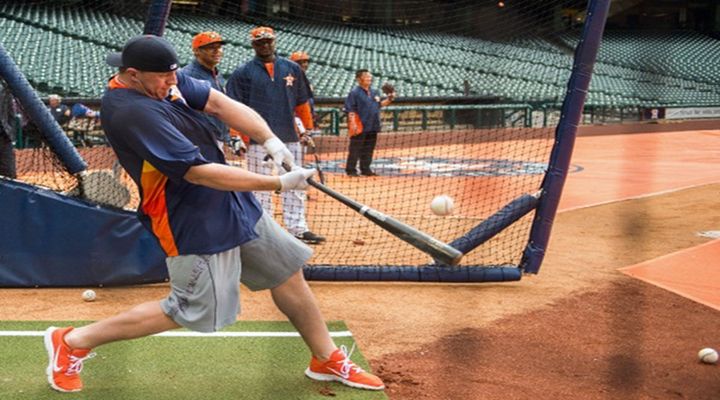 Texans J.J. Watt Hit Five Home Runs During Batting Practice with the Houston Astros [Video]