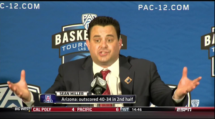 "Arizona Coach Sean Miller Wants You to Know Why He was Given a Technical Foul for Saying ""He Touched the Ball"" [Video]"