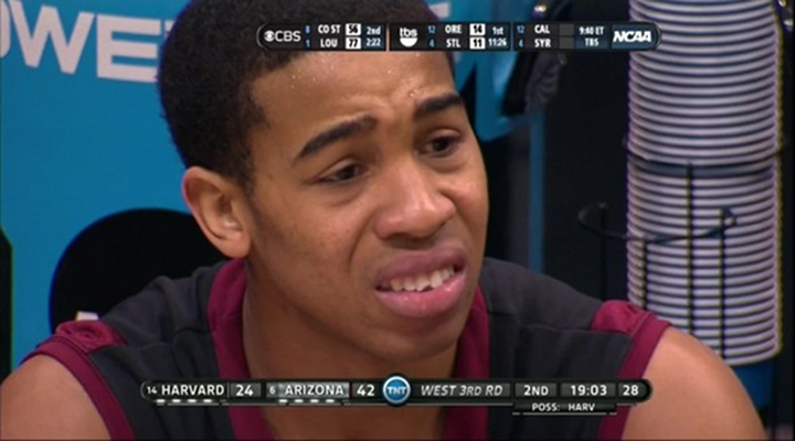 Harvard's Siyani Chambers Chipped His Tooth Against Arizona, Channels Lloyd Christmas