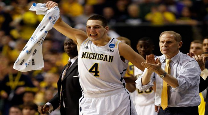 """You Got Knocked the Fuck Out!"": Michigan's Mitch McGary Sets Vicious Screen to Set Up Trey Burke Jumper [Video]"
