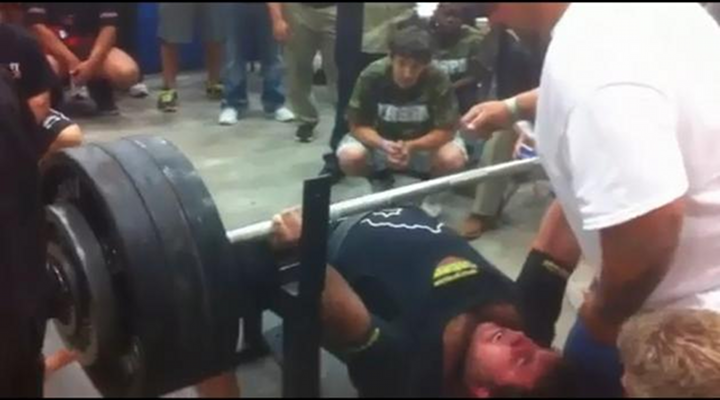 Wide World of Sports: College Football Prospect Benches Record 700 Pounds [Video]